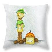 Baggs And Boo Treat Or Trick Throw Pillow