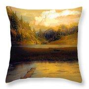 Bagley Lake Throw Pillow