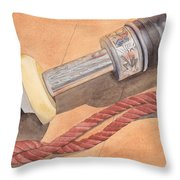 Bagpipe Drone Throw Pillow