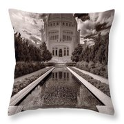 Bahai Temple Reflecting Pool Throw Pillow
