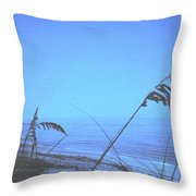 Bahama Blue Throw Pillow