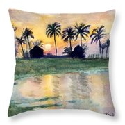 Bahama Palm Trees Throw Pillow