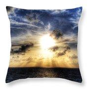 Bahama Sunset By Steve Ellenburg Throw Pillow