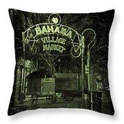 Bahama Village Market Key West Florida Throw Pillow