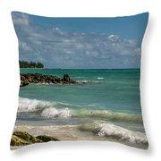 Bahamas Beach Throw Pillow