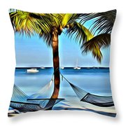 Bahamas Vacation Throw Pillow