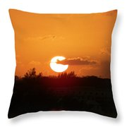 Bahamian Sunset Throw Pillow