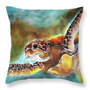 Bahamian Turtle Dove Throw Pillow