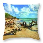 Bahia Honda State Park Throw Pillow