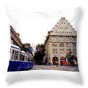 Bahnhofstrasse Zurich Throw Pillow