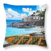 Baie Rouge Throw Pillow