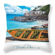 Baie Rouge Poster Throw Pillow