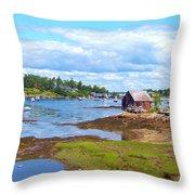 Bailey Island Lobster Shack Throw Pillow