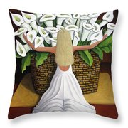 Baileyrae Lilies Throw Pillow