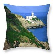Baily Lighthouse, Howth, Co Dublin Throw Pillow