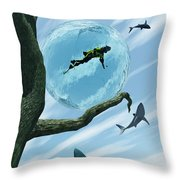 Bait Throw Pillow