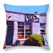 Bait Shop Throw Pillow