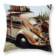 Baja Bug Throw Pillow