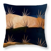 Baja Landscape Number 1 Square Throw Pillow by Carol Leigh