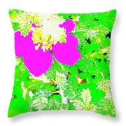 Baja Littleaf Rose Throw Pillow