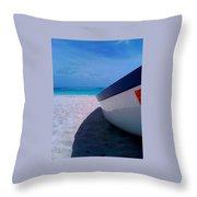 Bajan Boat Throw Pillow