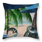 Bajan Paradise Throw Pillow