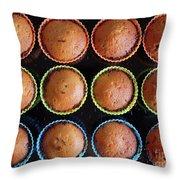 Baked Cupcakes Throw Pillow