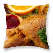 Baked Duck Throw Pillow