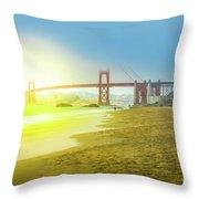 Baker Beach In San Francisco Throw Pillow