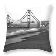 Baker Beach In Sf Throw Pillow