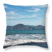Baker Beach Panorama Throw Pillow