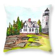 Baker Island Bar Harbor Maine Throw Pillow