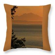Cascade Sunrise Throw Pillow