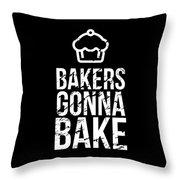 Bakers Gonna Bake Light Cupcake Baking Throw Pillow