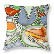 Bakewell Pudding And Cup Of Tea At Eroica Britannia  Throw Pillow