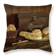 Baking Day - Bread Throw Pillow