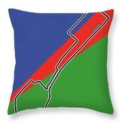 Baku Race Track Throw Pillow
