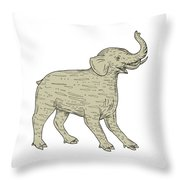 Baku Side Drawing Throw Pillow
