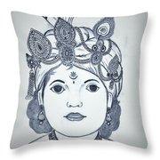 Bal Krishna Throw Pillow