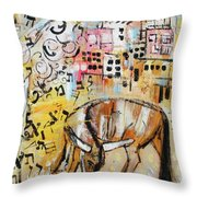 Balaams Donkey Sees The Angel 201762 Throw Pillow