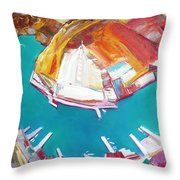 Balaklaw Bay Throw Pillow