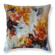 Balance And Harmony Abstract Painting Throw Pillow