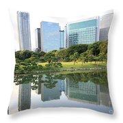 Balance In Tokyo Throw Pillow