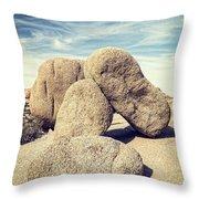Balanced Boulders In Joshua Tree National Park Throw Pillow by Bryan Mullennix