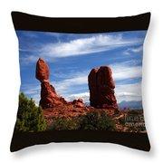 Balanced Rock Arches National Park, Moab, Utah Throw Pillow