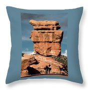 Balanced Rock At Garden Of The Gods Throw Pillow