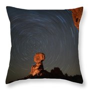 Balanced Spin Throw Pillow