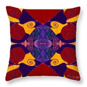 Balancing Affections Abstract Bliss Art By Omashte Throw Pillow