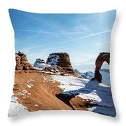 Delicate Arch Wide Throw Pillow