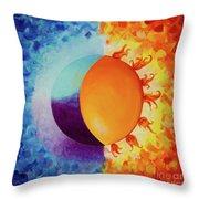 Balancing Sun And Moon Energies Throw Pillow